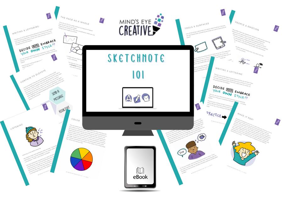 sketchnote 101 free guide promo graphic